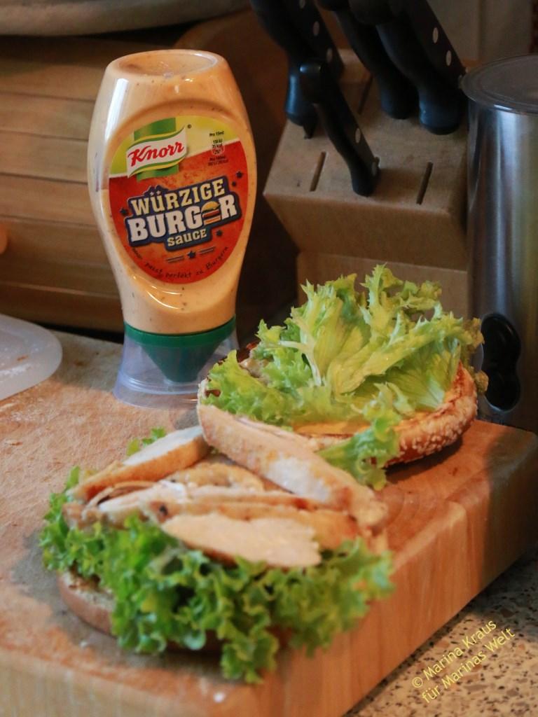 chicken burger rezept marinas welt. Black Bedroom Furniture Sets. Home Design Ideas